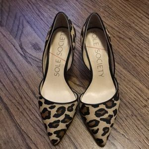 Sole Society leopard pumps